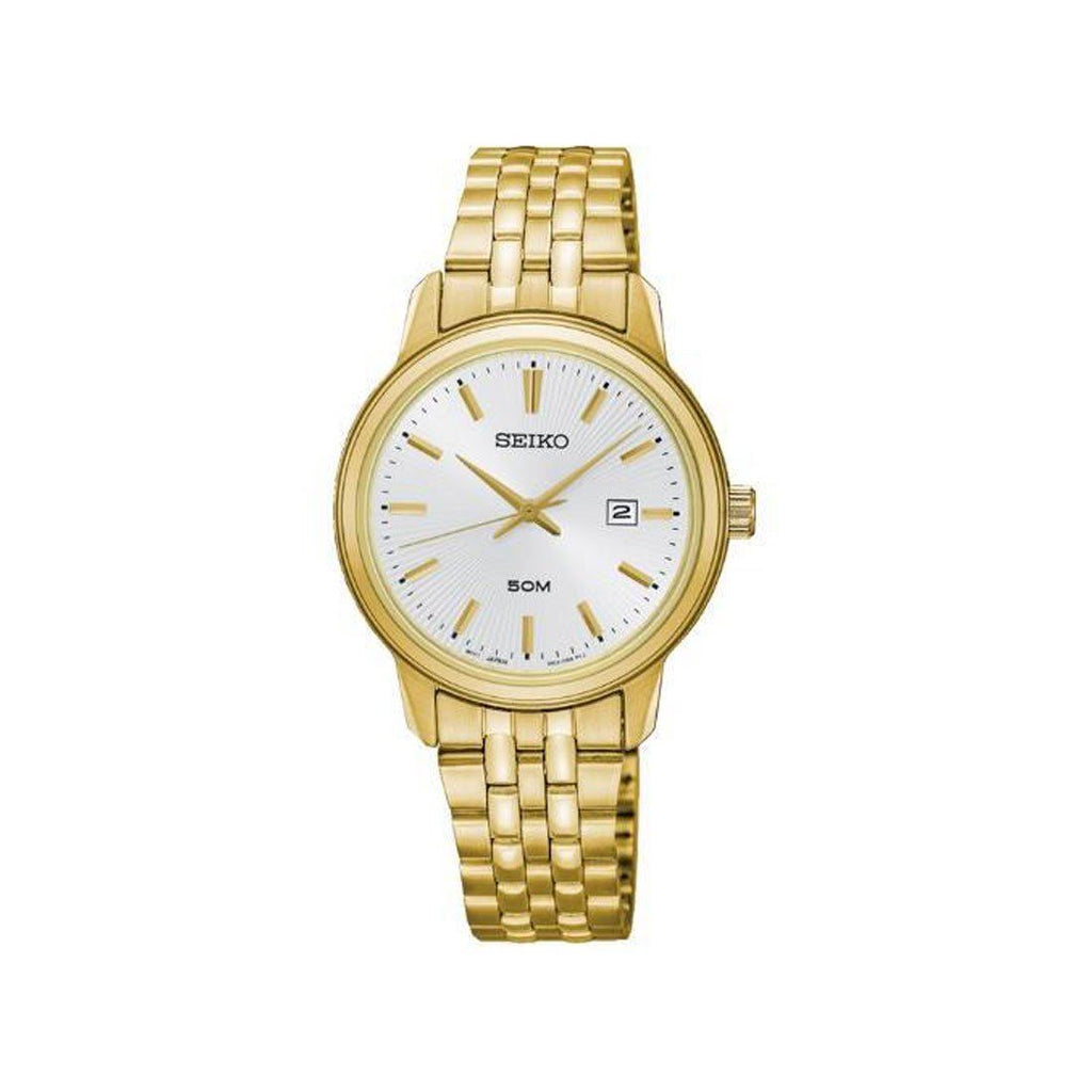 Seiko Women's Gold Bracelet Watch SUR660P Watches Seiko