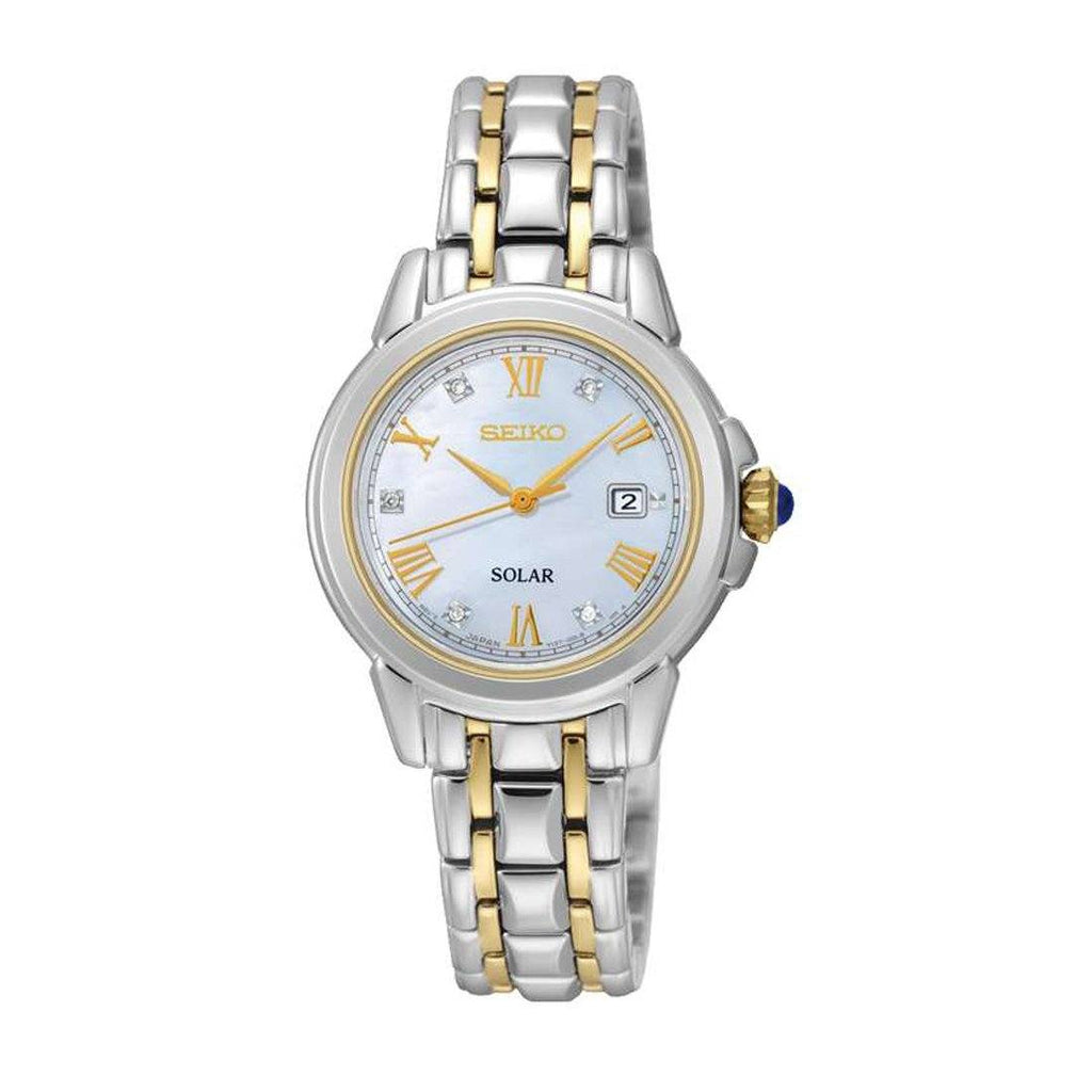 Seiko Le Grand Ladies Solar Watch Model SUT244P-9 with 5 Diamonds