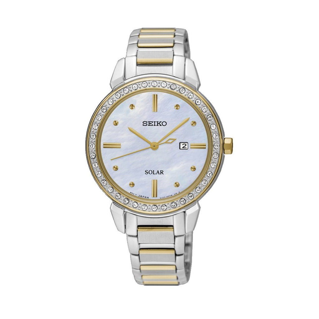 Seiko Ladies Crystal Set Watch SUT328P Watches Seiko