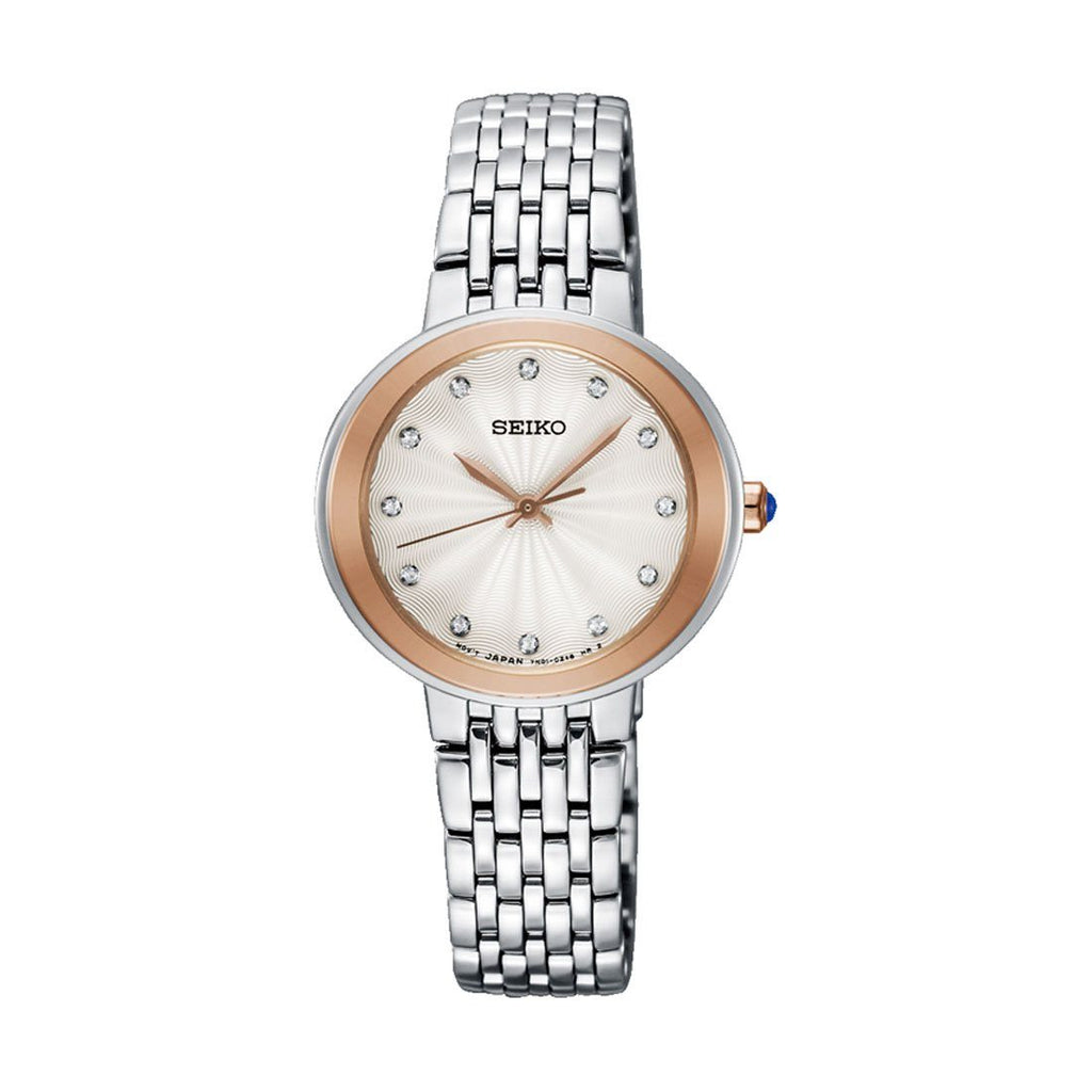 Seiko Women's 2 Tone Swarovski Crystal Watch SRZ502P