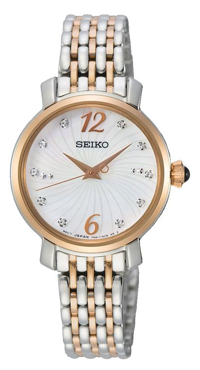 Seiko Women's Mother of Pearl Crystal Watch Watches Seiko