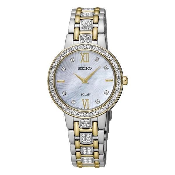 Seiko Ladies Two Tone Stone Set Watch SUP360P9
