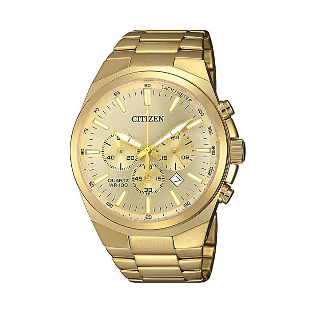 Citizen Men's Chronograph Gold Tone Stainless-Steel Watch Model AN8172-53P Watches Citizen