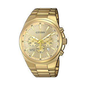 Citizen Men's Chronograph Gold Tone Stainless-Steel Watch Model AN8172-53P