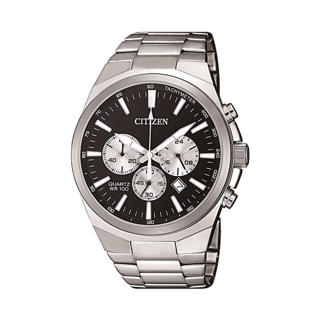 Citizen Men's Chronograph Silver Stainless-Steel Watch Model AN8170-59E