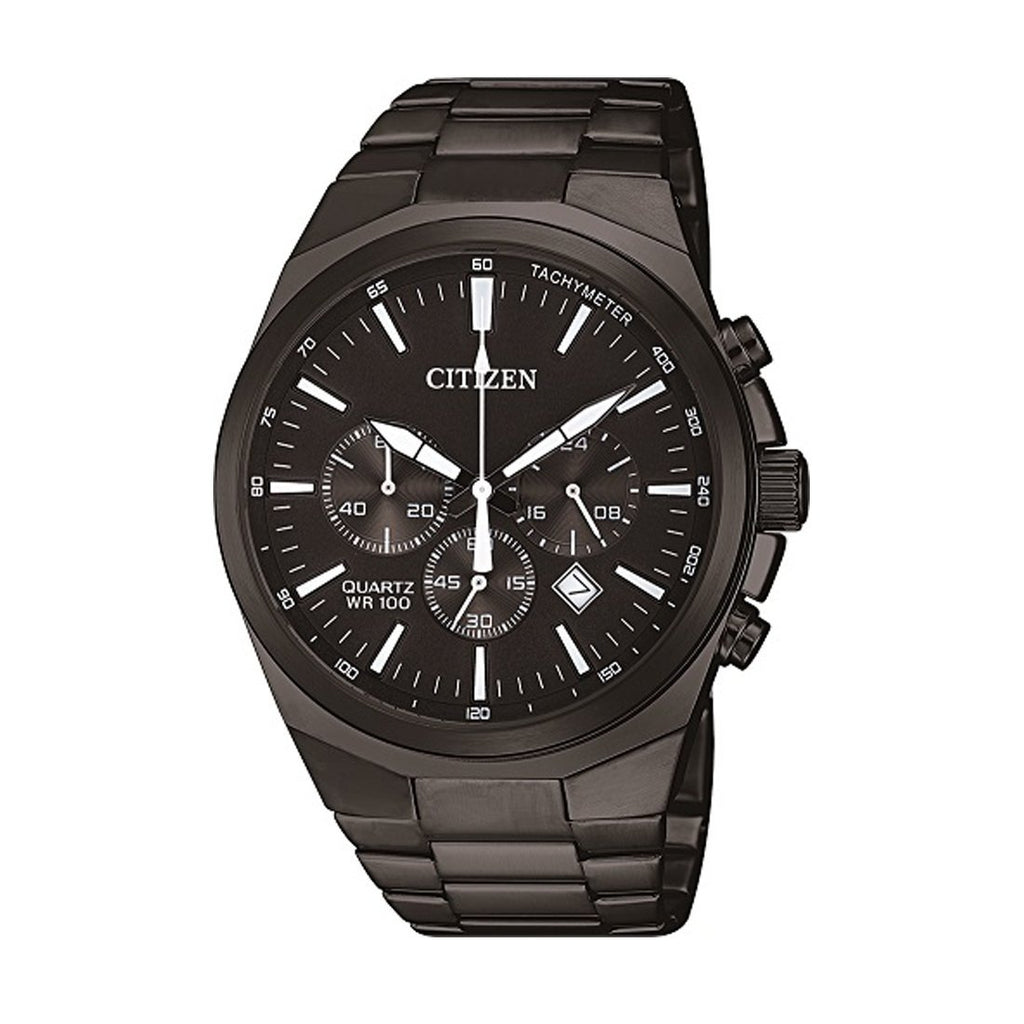 Citizen Men's Chronograph Black Stainless-Steel Watch Model AN8175-55E Watches Citizen