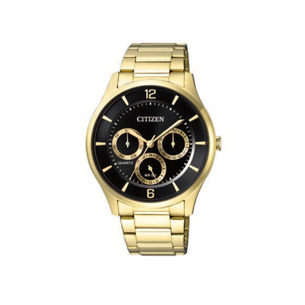 Citizen Men's Black and Gold Watch AG8353-81E