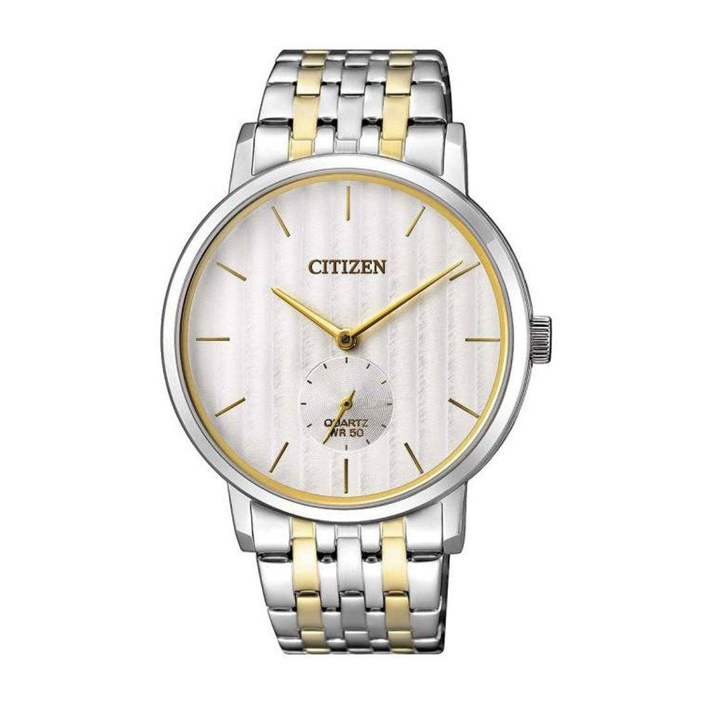 Citizen Men's White Face 2 Tone Gold & Silver Stainless Steel Watch BE9174-55A Watches Citizen