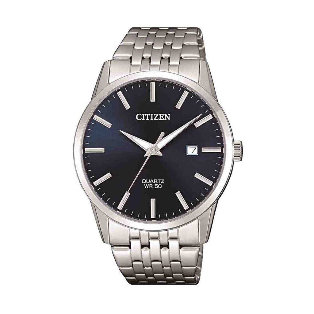 Citizen Men's Silver Stainless-Steel Blue Face Watch Model BI5000-87L