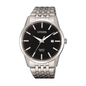 Citizen Men's Silver Stainless-Steel Black Face Watch Model BI5000-87E