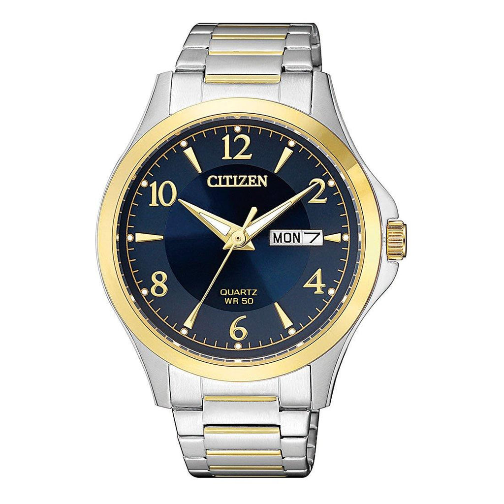 Citizen Two-Tone Watch with Midnight Blue Dial BF2005-54L Watches Citizen