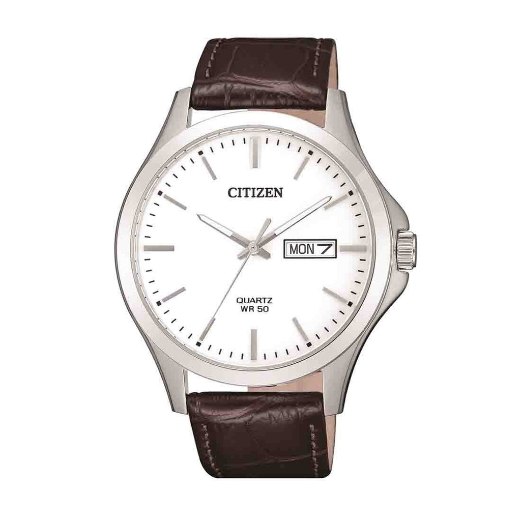 Citizen Mens Stainless Steel Quartz Day/Date Watch Model BF2001-12A