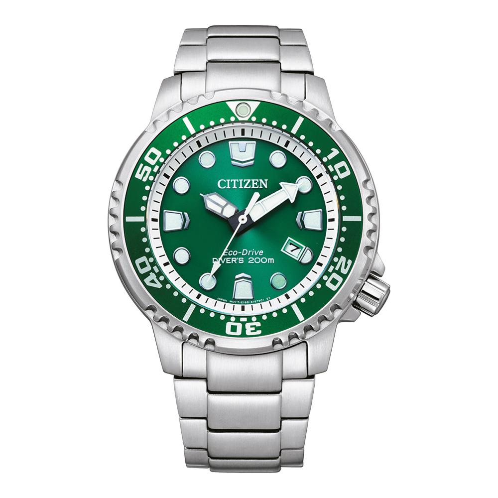 Citizen Promaster Diver Green dial Aqualand BN0158-85X Watches Citizen