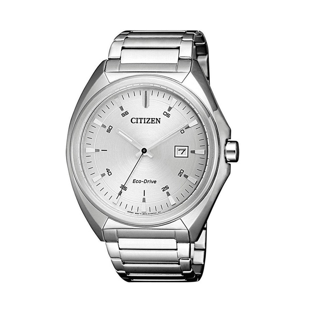 Citizen Men's Eco Drive White & Silver Watch AW1570-87A Watches Citizen
