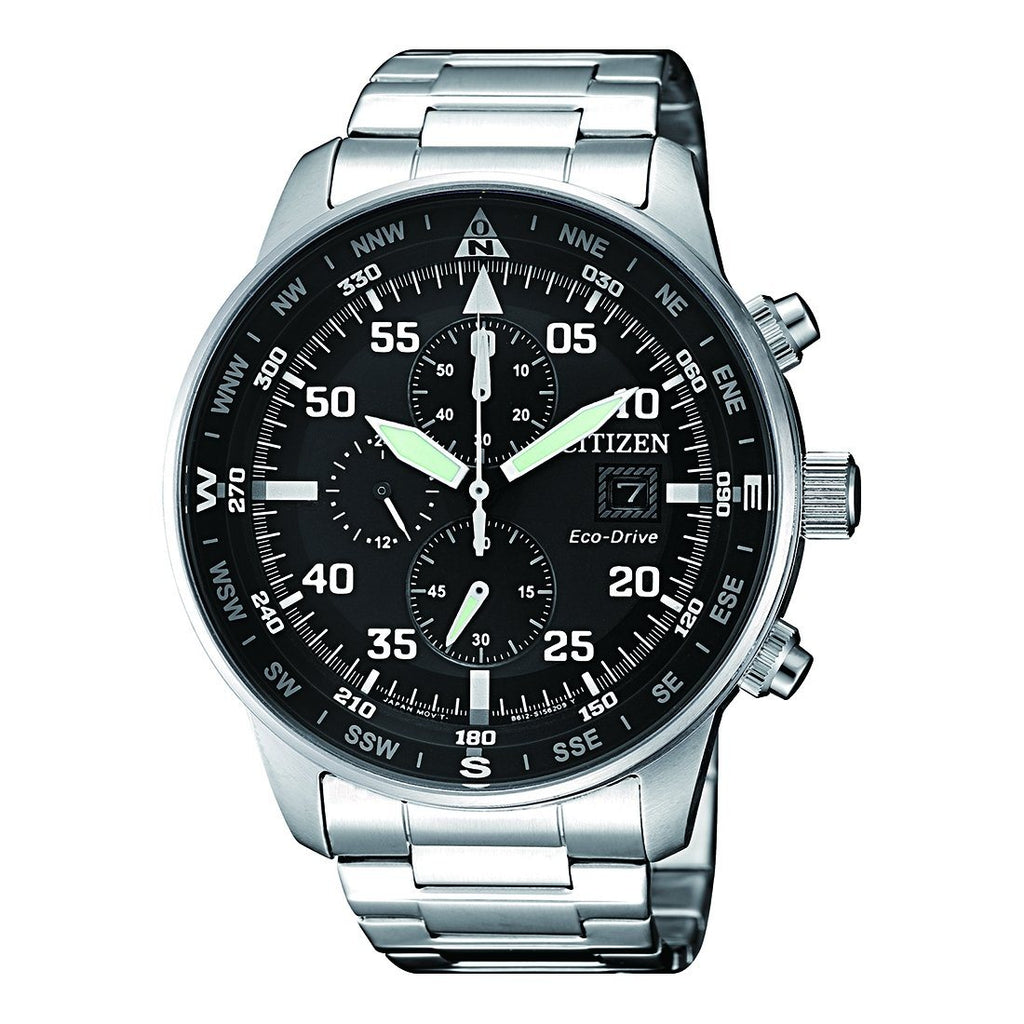 Citizen Men's Eco Drive Chronograph Watch CA0690-88E Watches Citizen