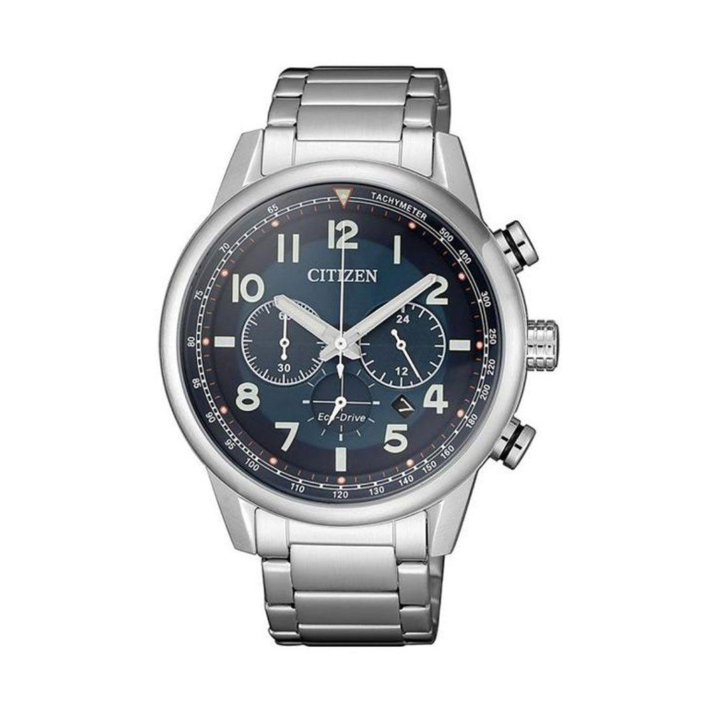 Citizen Men's Eco Drive Chronograph Blue & Silver Watch CA4420-81L Watches Citizen
