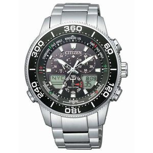 Citizen Marine/Yacht Black Silver Watch JR4060-88E
