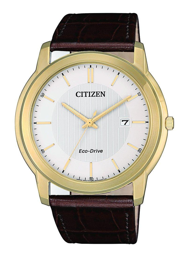 Citizen Eco Drive Gold Watch AW1212-10A Watches Citizen