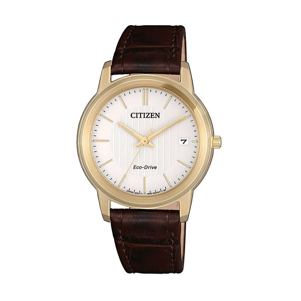 Citizen Eco Drive Brown Leather Watch FE6012-11A Watches Citizen