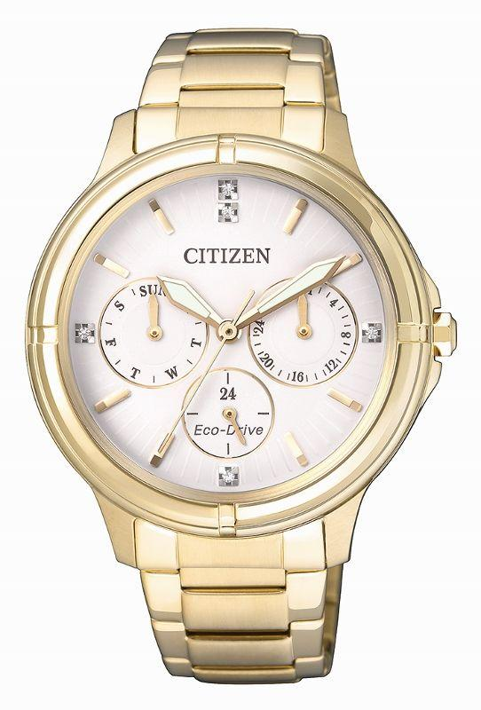 Citizen Ladies Eco Drive Gold Watch FD2032-55A