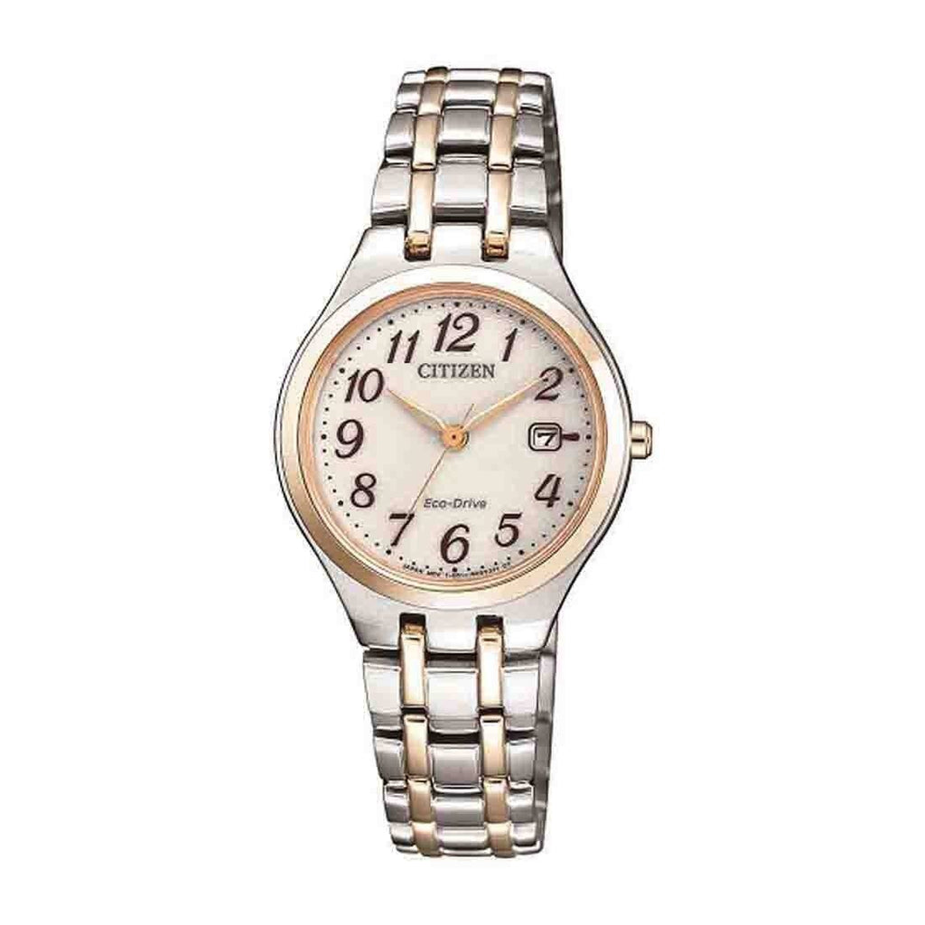 Citizen Eco Drive Two Tone Ladies Watch EW2486-87A Watches Citizen