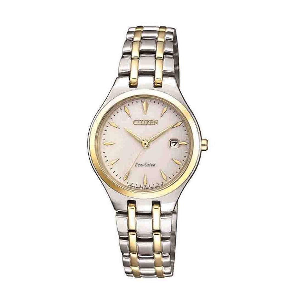 Citizen Eco Drive Ladies Two Tone Watch EW2484-82B