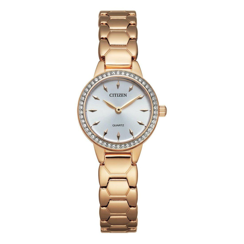 Citizen Women's Gold Crystal Watch EZ7013-58A Watches Citizen