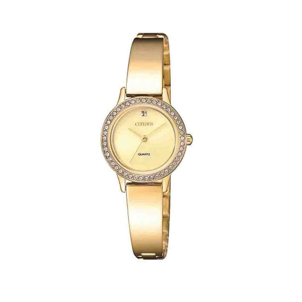 Citizen Ladies Crystal Bangle Style Watch EJ6132-55P Watches Citizen