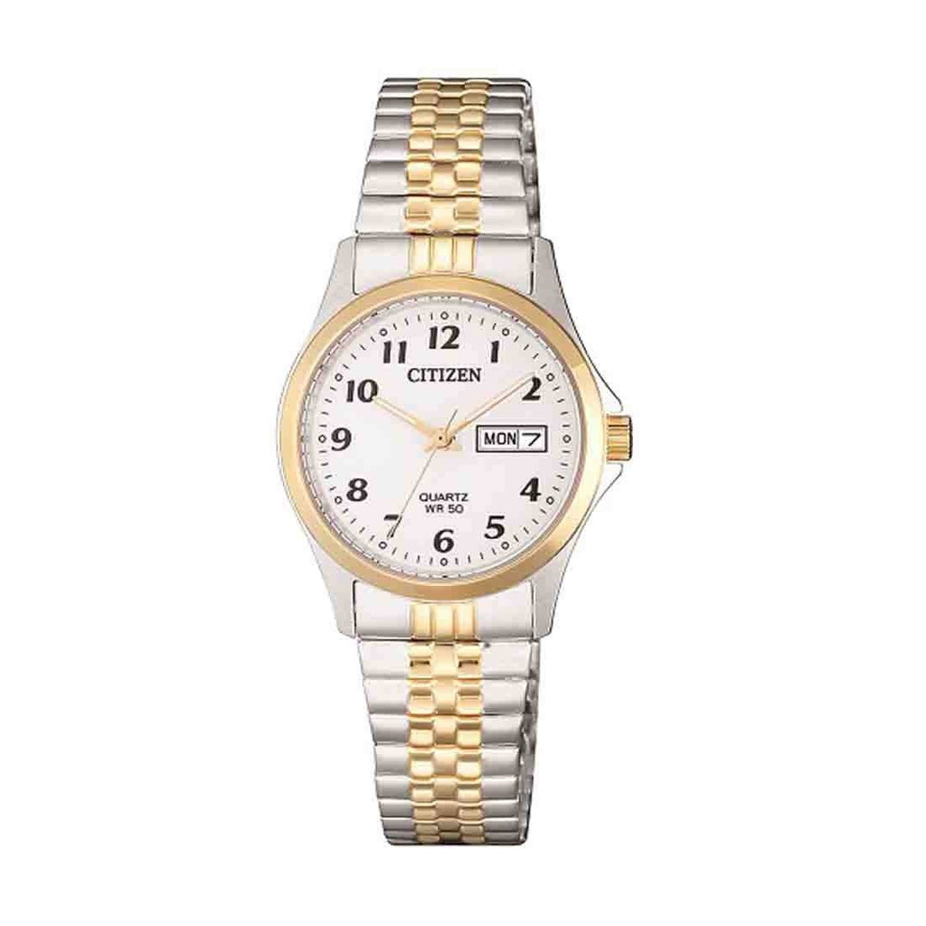 Citizen Ladies Two Tone Watch Model EQ2004-95A Watches Citizen