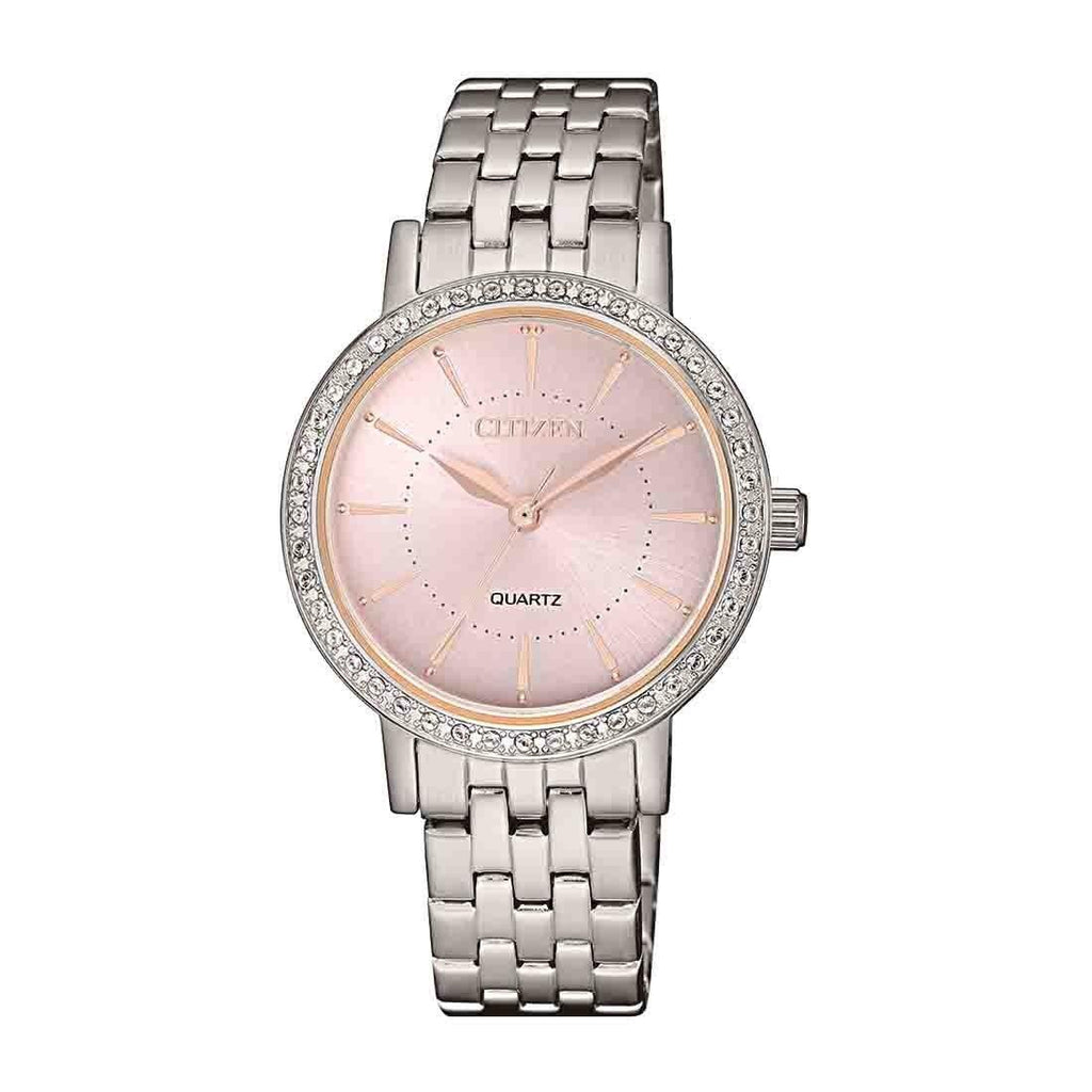 Citizen Ladies Pink Face Watch Model EL3041-87X
