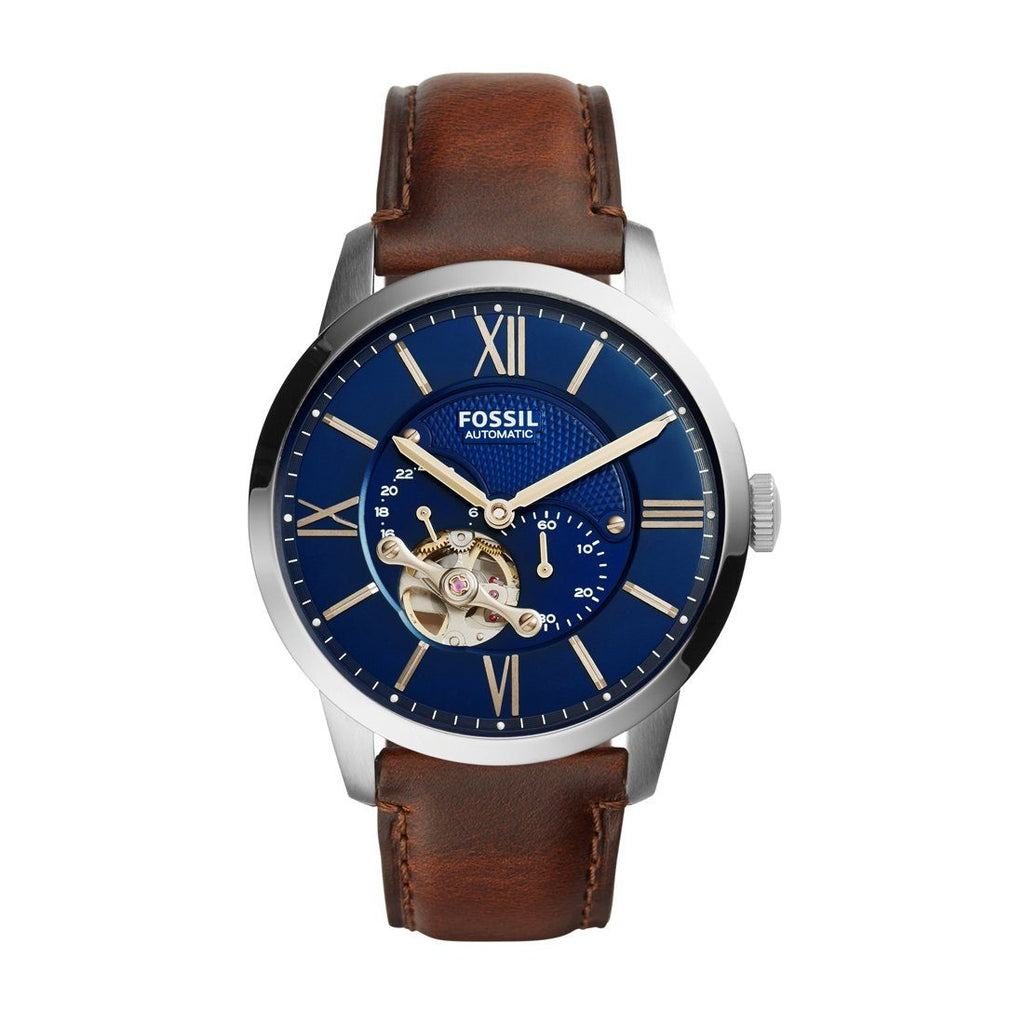 Fossil Townsman Automatic Brown Leather Watch ME3110 Watches Fossil