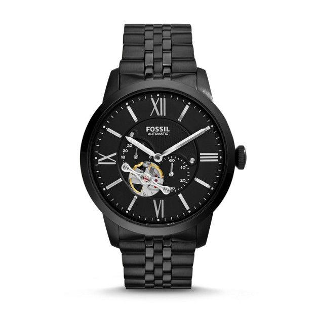 Fossil Men's Townsman Black Watch ME3062 Watches Fossil