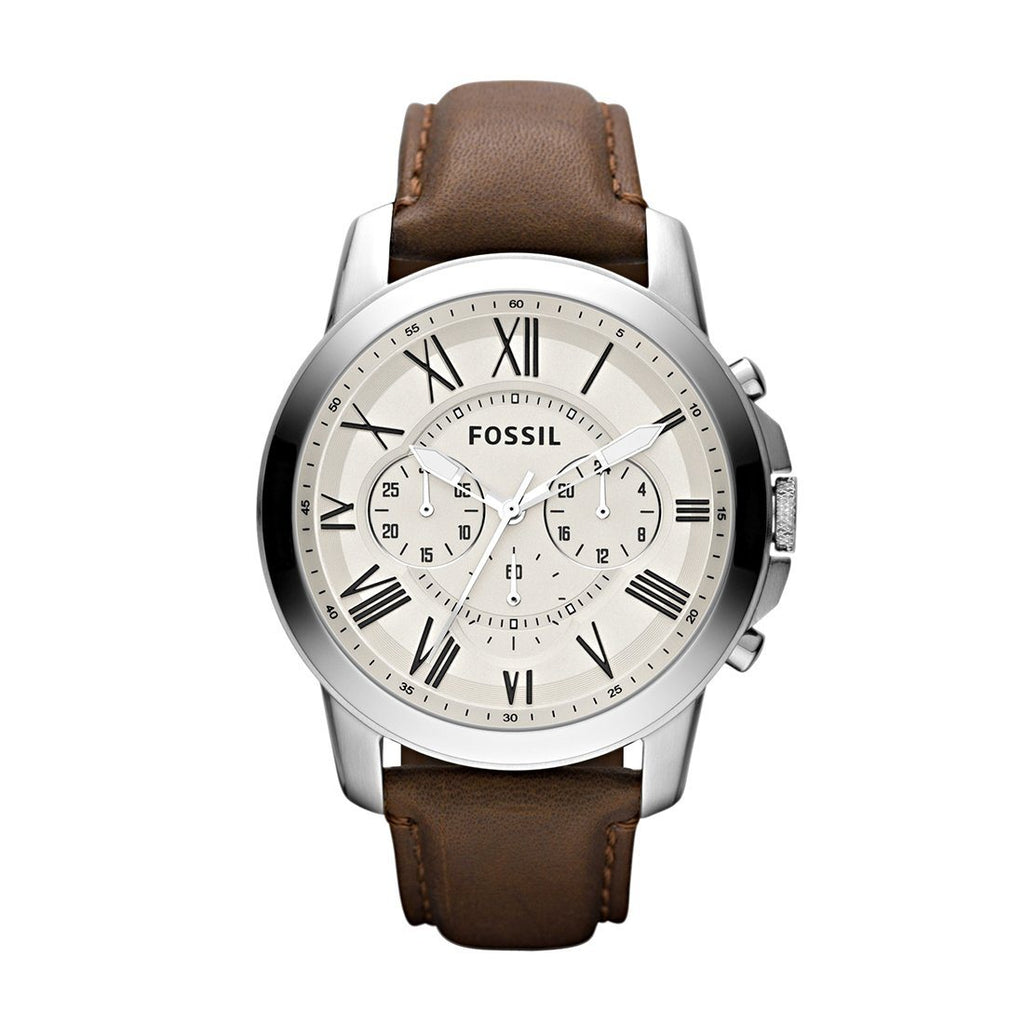 Fossil Men's Leather Watch Model - FS4735 Watches Fossil