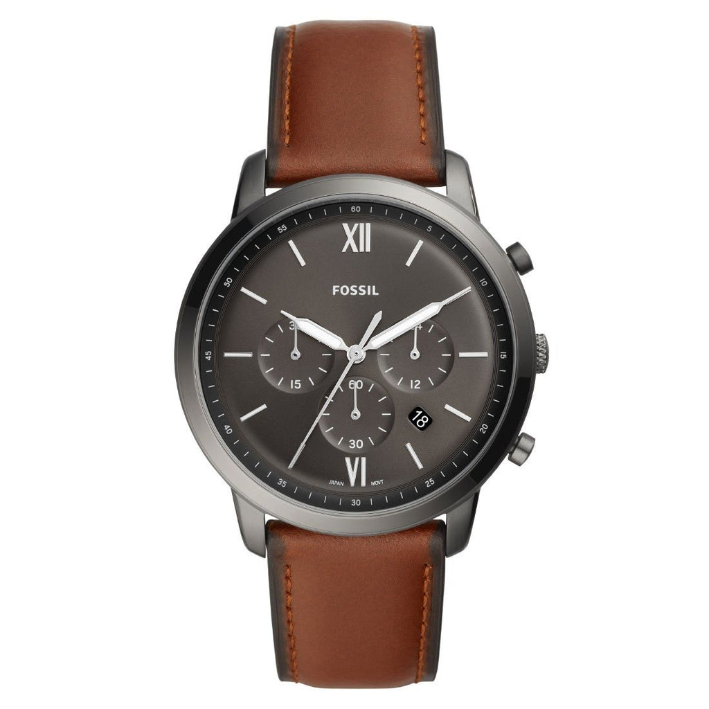 Fossil Men's Neutra Chronograph Brown Leather Watch Model FS5512 Watches Fossil