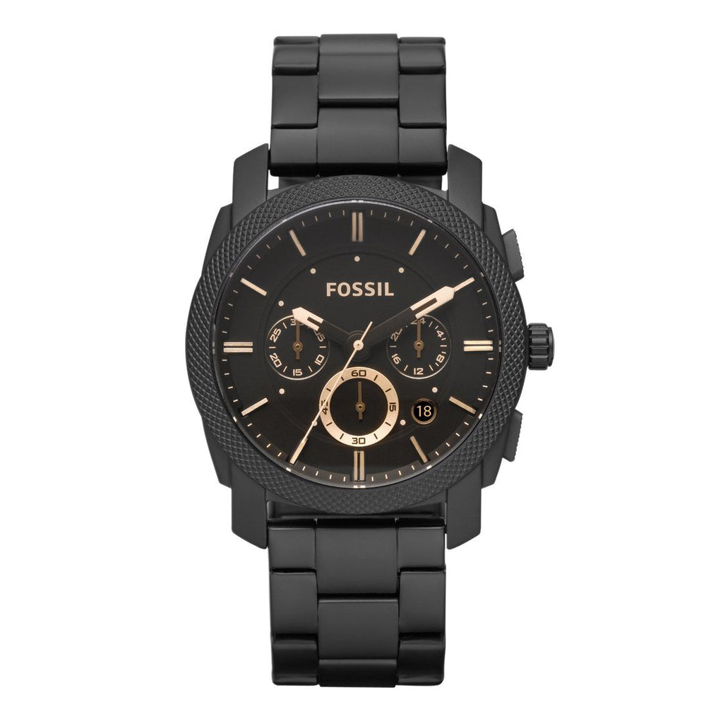 Fossil Mens Black Watch FS4682 Watches Fossil