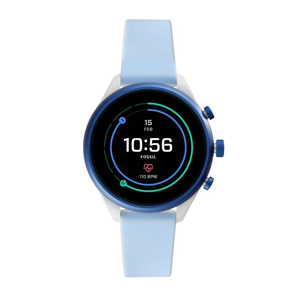 Fossil Sport Smartwatch Light Blue SIlicone FTW6026P