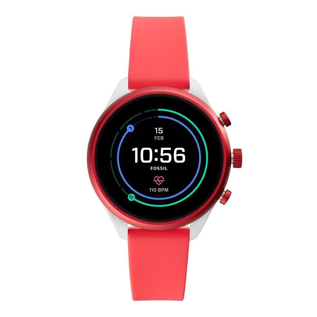 Fossil Sport Smartwatch Red Silicone FTW6027P Watches Fossil