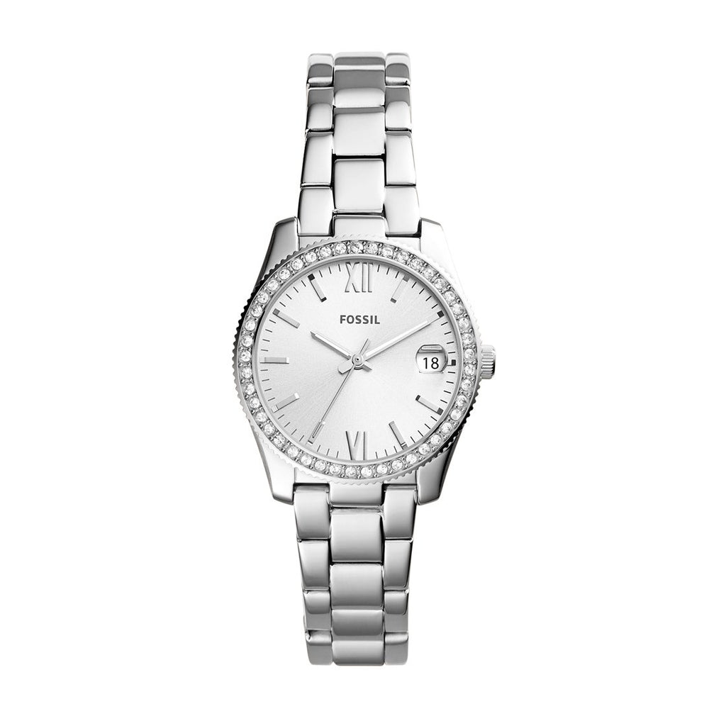 Fossil Ladies Scarlette Silver Stone Watch ES4317 Watches Fossil
