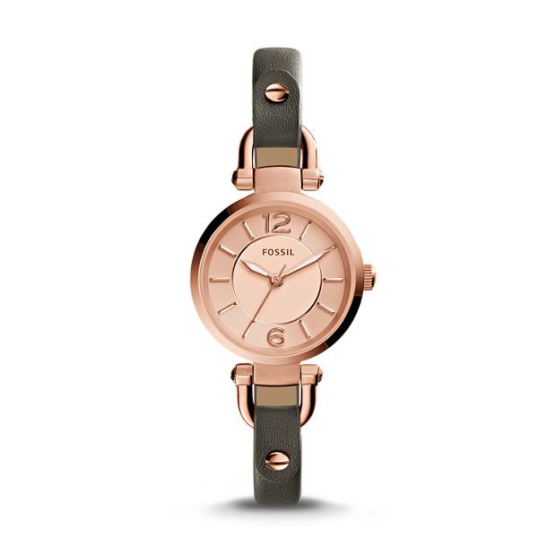 Fossil Georgia Gray Leather Watch