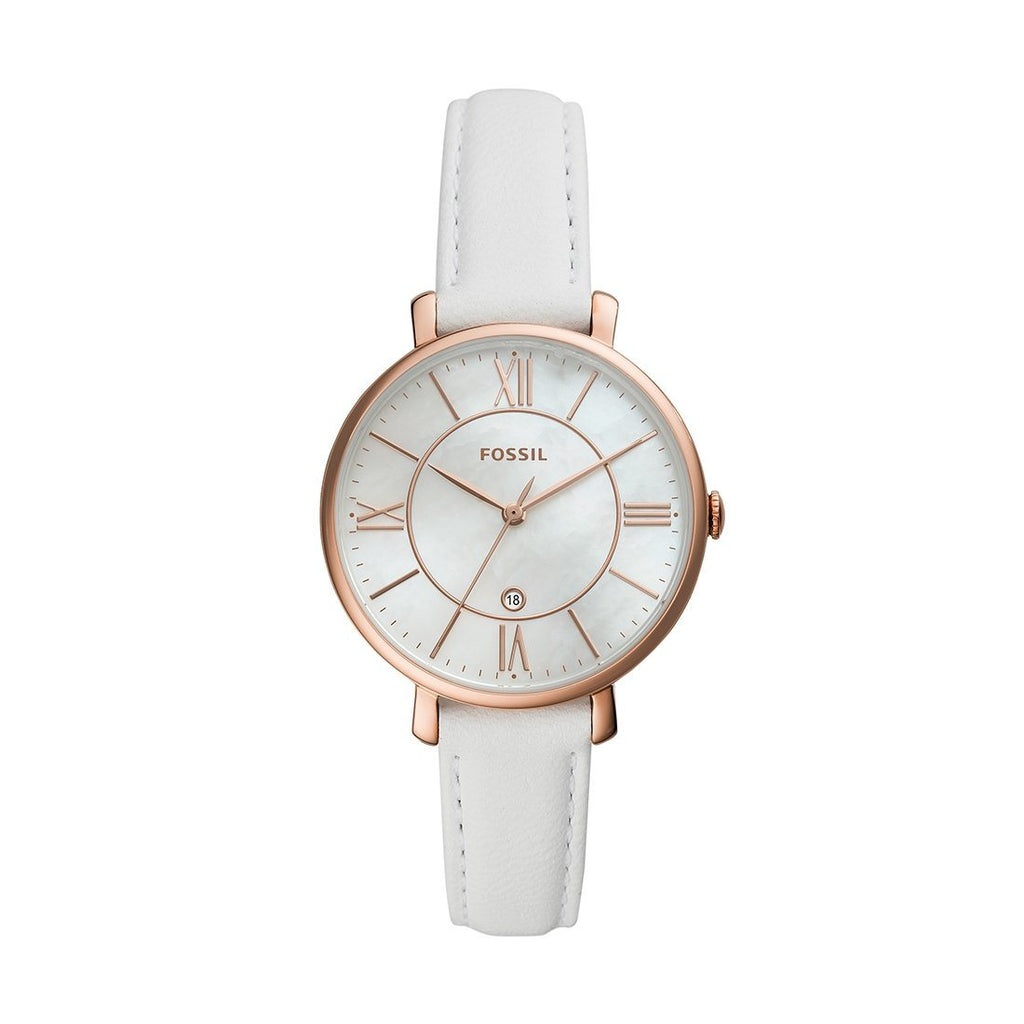 Fossil Jacqueline Rose White Watch ES4579 Watches Fossil