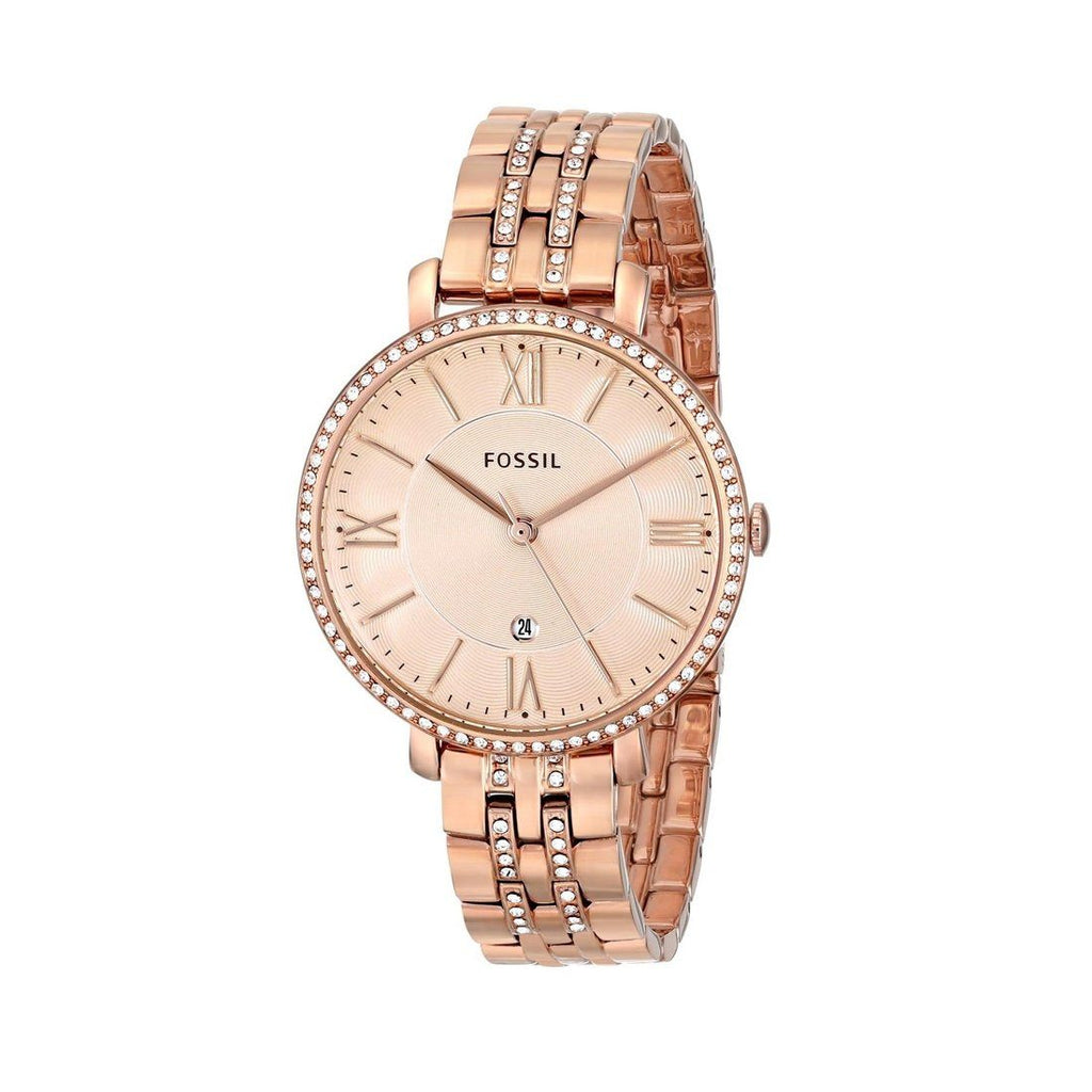 Fossil Ladies Jacqueline Rose Gold Watch ES3546