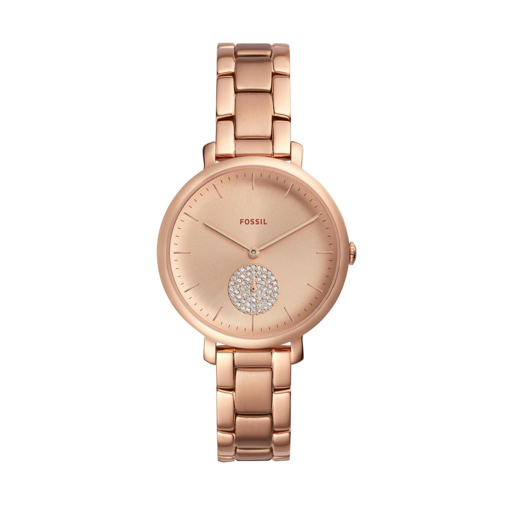Fossil Jacqueline Stone Centre Rose Gold Watch ES4438 Watches Fossil