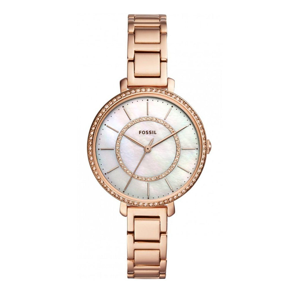 Fossil Jocelyn Three-Hand Rose Gold-Tone Stainless Steel Watch ES4452