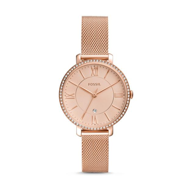 Fossil Jacqueline Rose Gold-Tone Watch ES4628 Watches Fossil