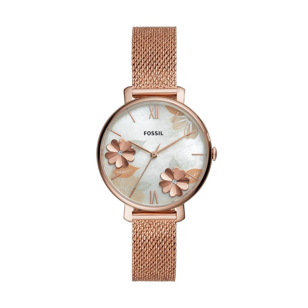 Fossil Jacqueline Rose Gold-Tone Stainless Steel Watch ES4534 Watches Fossil