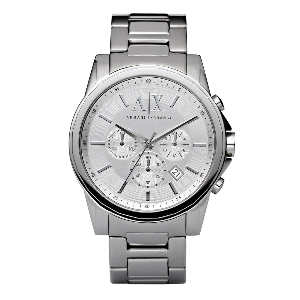 Armani Exchange Mens Silver Watch AX2058 Watches Armani Exchange