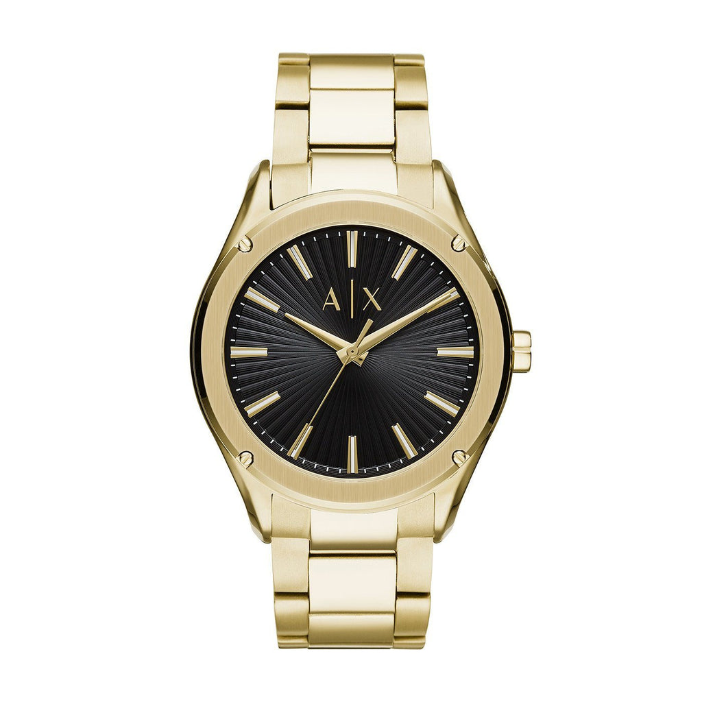 Armani Exchange Fitz Black Gold Watch AX2801