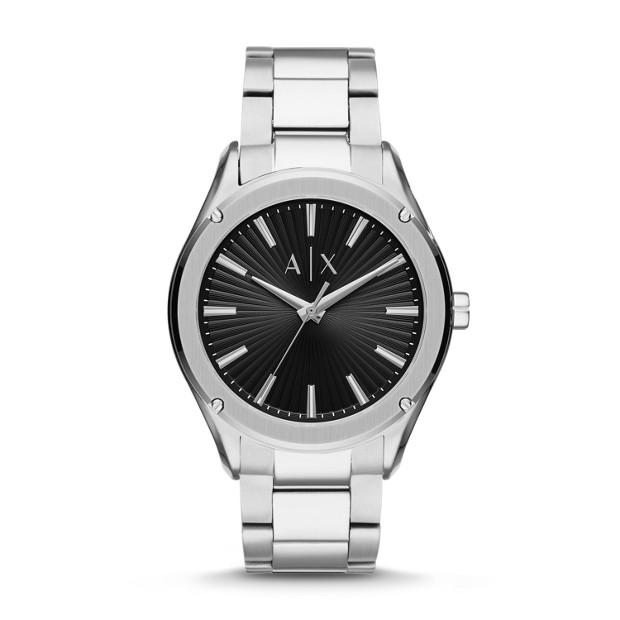 Armani Exchange Men's Fitz Silver Watch AX2800 Watches Armani Exchange