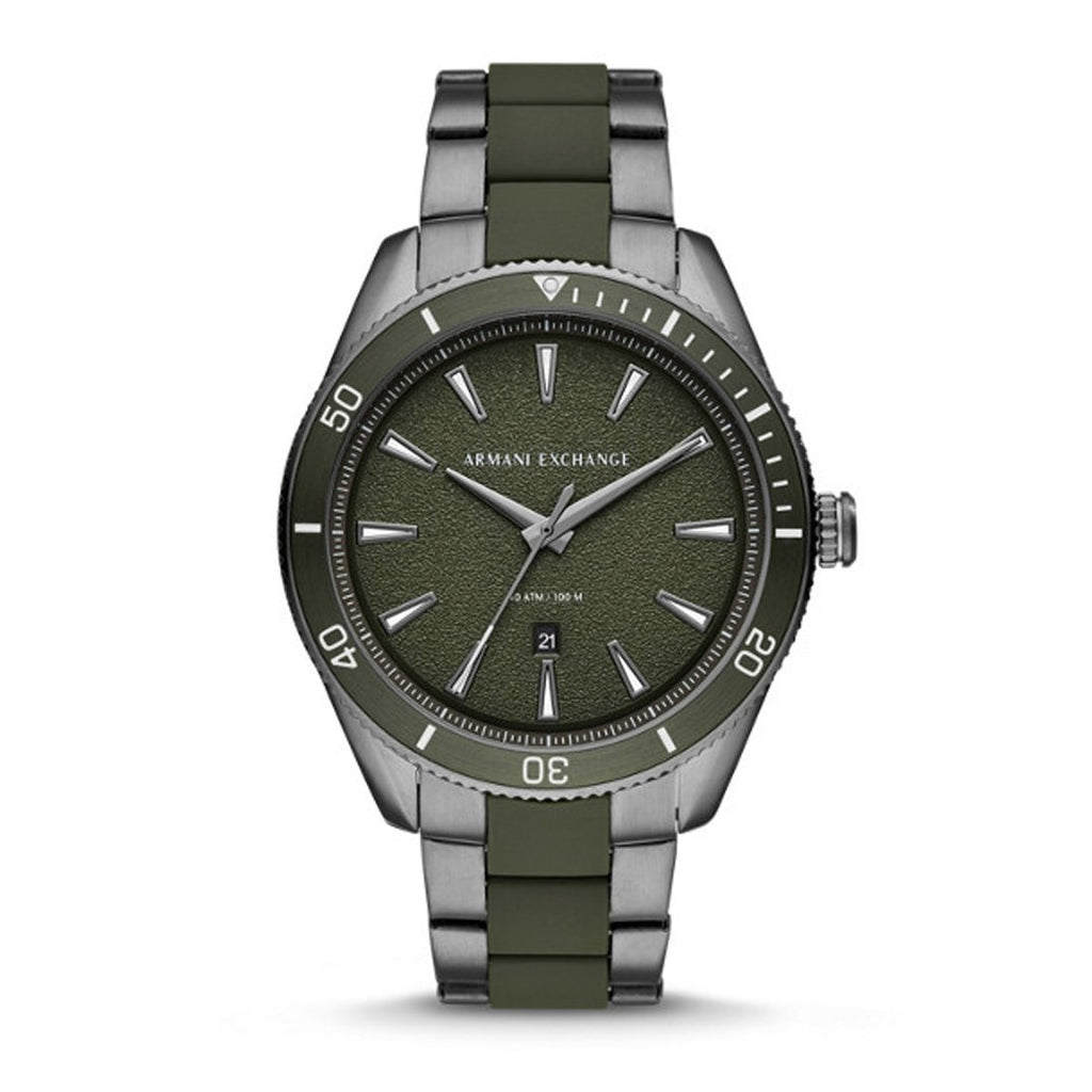 Armani Exchange Enzo Green Face Watch AX1833 Watches Armani Exchange