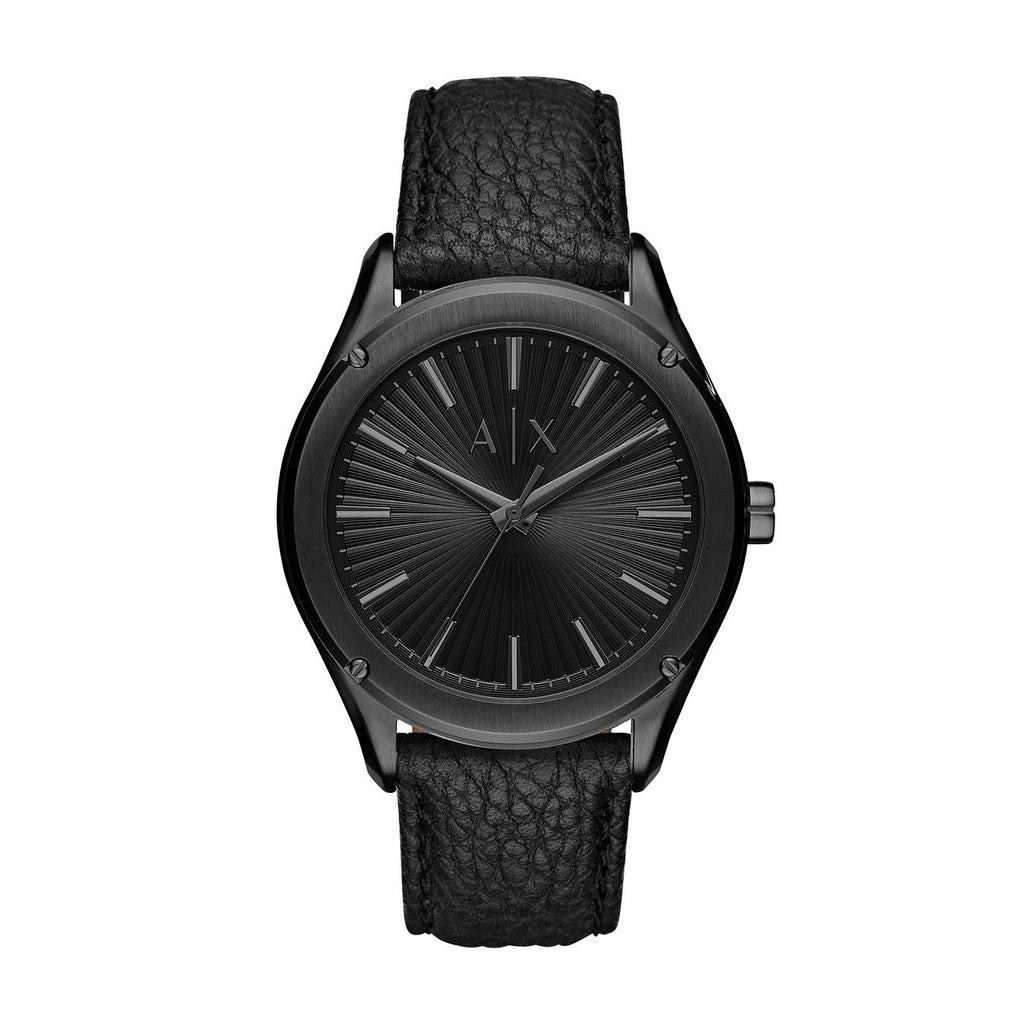 Armani Exchange Fitz Black Leather Watch AX2805